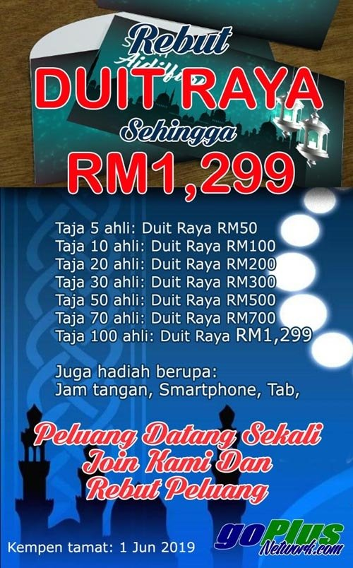 Image result for DUIT RAYA GOPLUS NETWORK